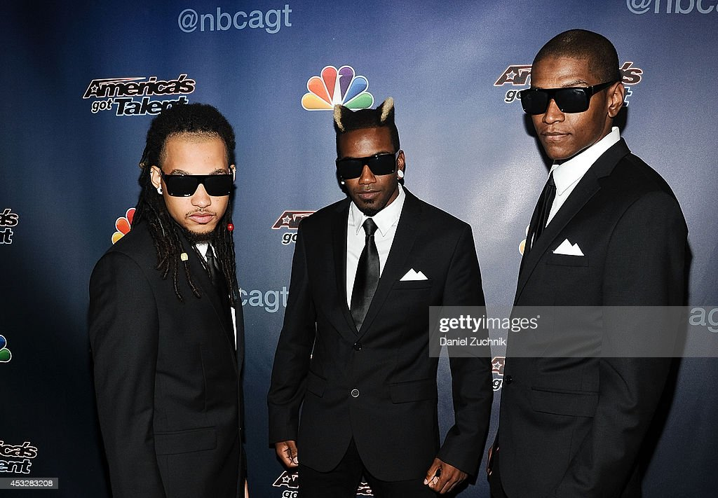 Dragon House 'The Agents' attend 'America's Got Talent' season 9 post show red carpet event at Radio City Music Hall on August 6, 2014 in New York City.