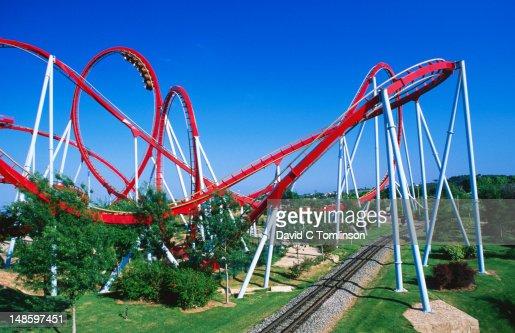 khan rollercoaster port aventura theme park salou stock photo getty images