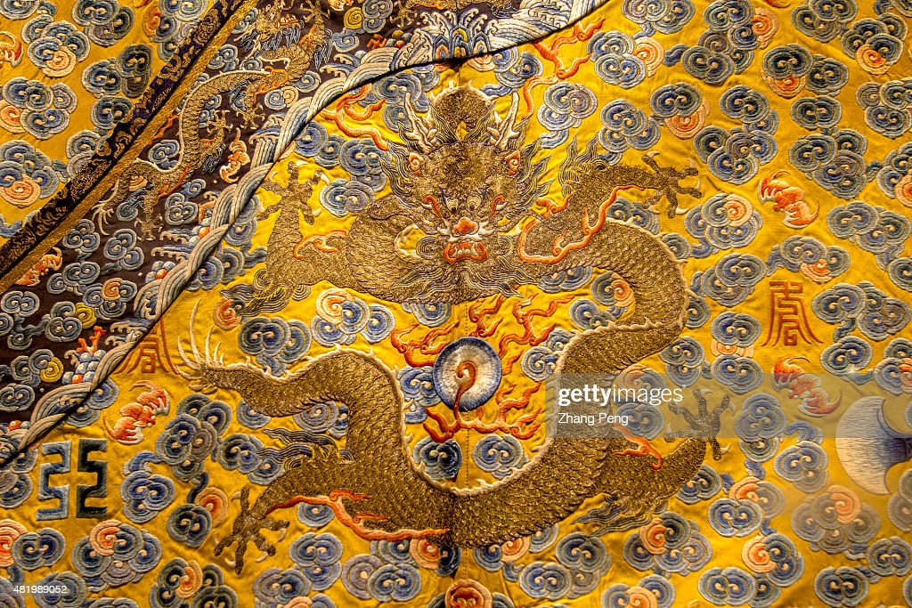 Dragon patterns on the costumes of emperosr and empresses exhibited in the Palace Shenyang Imperial Palace built in 1625 is the former imperial...