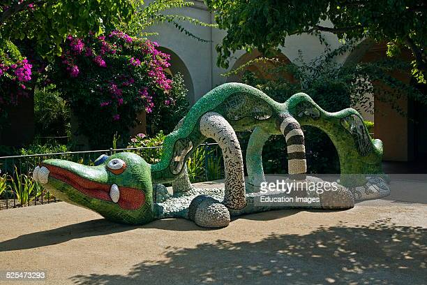 A Dragon Sculpture In Front Of The Mingei International Museum Is Located In Balboa Park San Diego California