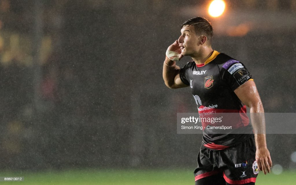 Dragons' Carl Meyer during the Guinness Pro14 Round 5 match between Dragons and Southern Kings at Rodney Parade on September 30, 2017 in Newport, Wales.