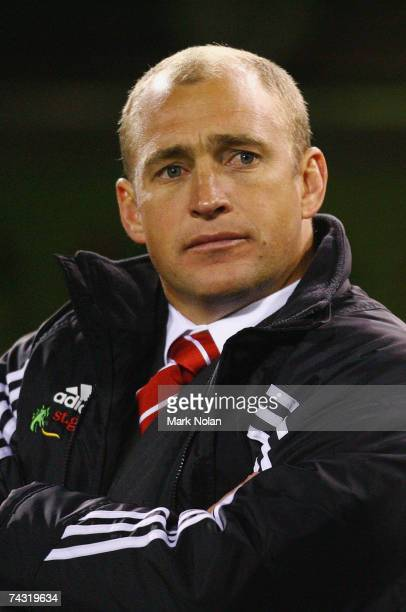 Dragons coach Nathan Brown is pictured during the round 11 NRL match between the Canberra Raiders and the St George Illawarra Dragons at Canberra...
