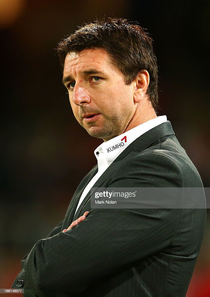 Dragons coach Steve Price watches on during the round eight NRL match between the St George Illawarra Dragons and the Manly Sea Eagles at WIN Jubilee Stadium on May 6, 2013 in Sydney, Australia.