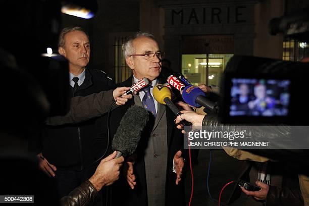 Draguignan public prosecutor Ivan Auriel speaks during a press conference on December 8 2015 in La Mole near the city of SaintTropez southeastern...