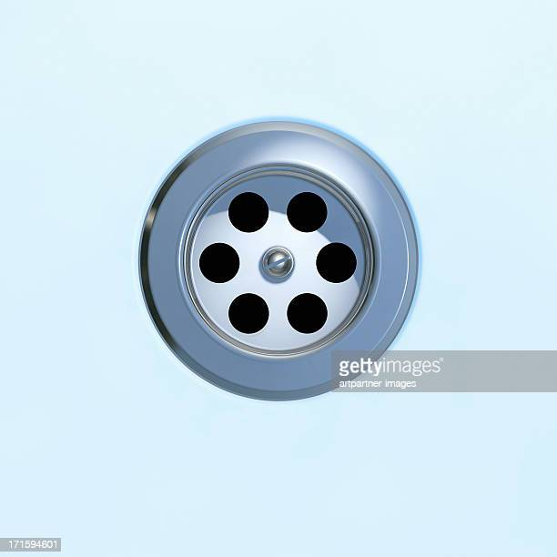 Drain of a bathtub or a sink closeup
