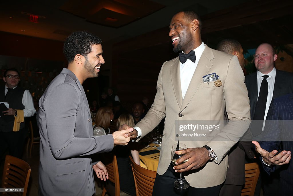 Drake and <a gi-track='captionPersonalityLinkClicked' href=/galleries/search?phrase=LeBron+James&family=editorial&specificpeople=201474 ng-click='$event.stopPropagation()'>LeBron James</a> attend The Two Kings Dinner presented by Sprite at RDG + Bar Annie on February 16, 2013 in Houston, Texas.