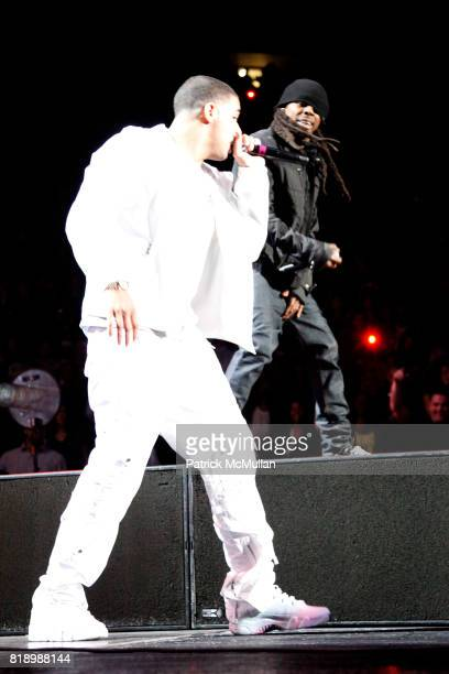 Drake and Lil' Wayne attend JAYZ BP3 TOUR 2010 at Madison Square Garden on March 2 2010 in New York City