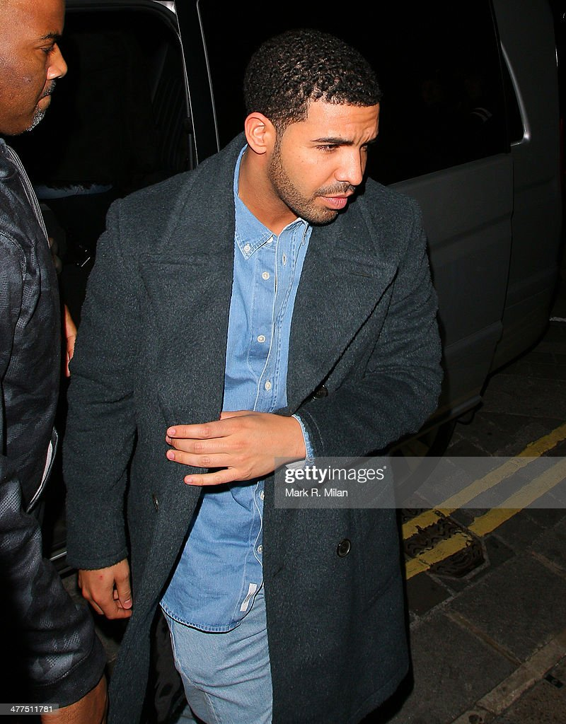 <a gi-track='captionPersonalityLinkClicked' href=/galleries/search?phrase=Drake+-+Entertainer&family=editorial&specificpeople=6927008 ng-click='$event.stopPropagation()'>Drake</a> at Nobu Park Lane restaurant on March 9, 2014 in London, England.