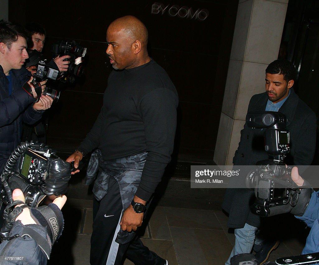 Drake at Nobu Park Lane restaurant on March 9, 2014 in London, England.