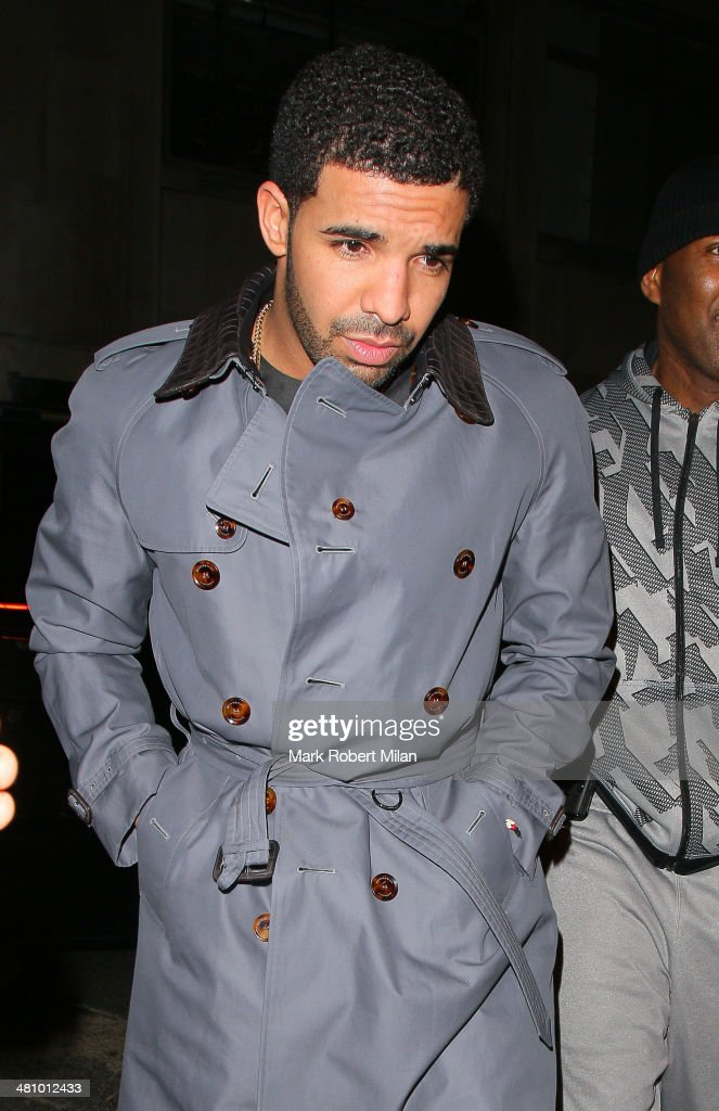 <a gi-track='captionPersonalityLinkClicked' href=/galleries/search?phrase=Drake+-+Entertainer&family=editorial&specificpeople=6927008 ng-click='$event.stopPropagation()'>Drake</a> at Tramp night club on March 27, 2014 in London, England.