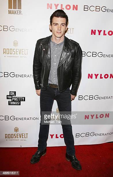 Drake Bell arrives at the Nylon Magazine May Young Hollywood Issue Party held at Tropicana Bar at The Hollywood Rooselvelt Hotel on May 8 2014 in...