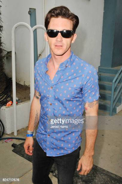 Drake Bell backstage at the Supergirl Pro Concert Series in Oceanside CA at The Strand on July 30 2017 in Oceanside California