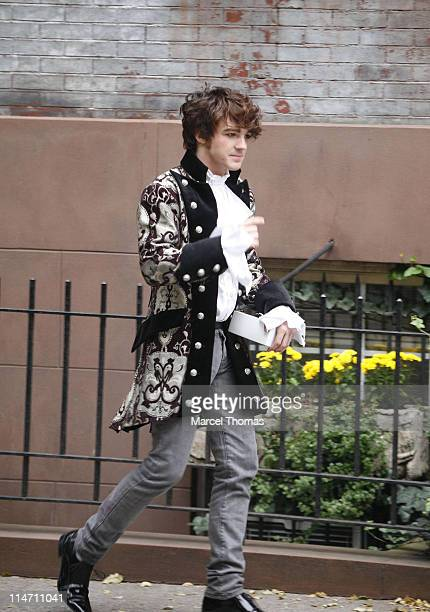 Drake Bell during Drake Bell and Miranda Cosgrove Sighting on the Set of his New Music Video on Location in SOHO in New York City New York United...