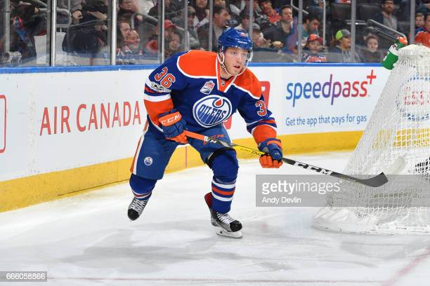 Drake Caggiula of the Edmonton Oilers skates during the game against the Los Angeles Kings on March 20 2017 at Rogers Place in Edmonton Alberta Canada