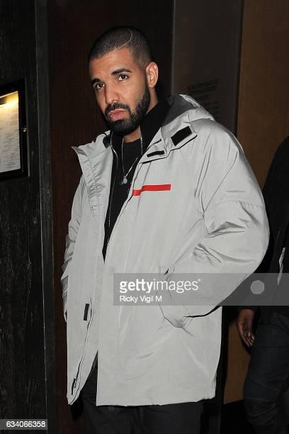 Drake is seen leaving Nobu Berkeley St restaurant on February 6 2017 in London England