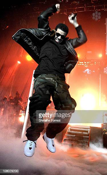 Drake performs a sold out show at Manchester Apollo on January 13 2011 in Manchester England