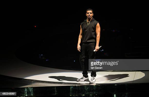 Drake performs at O2 Arena on March 24 2014 in London England