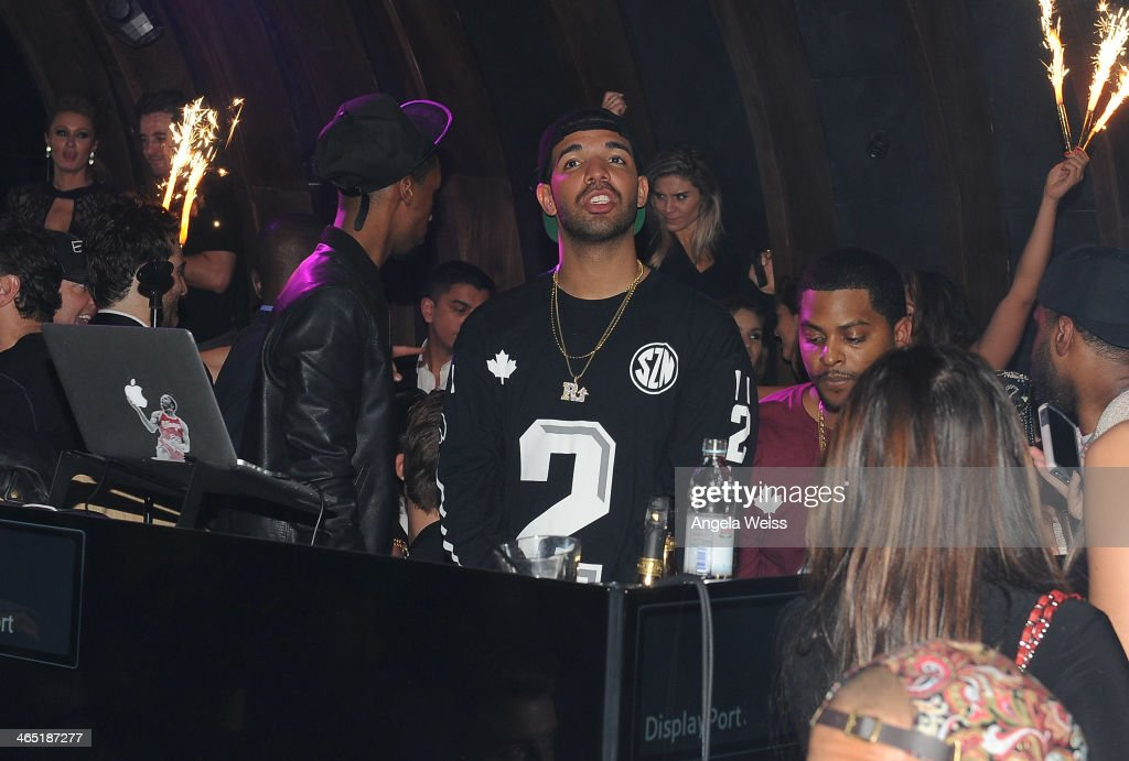 Drake performs at the 1 OAK LA Grand Opening Weekend hosted by Jay Z and presented by D'usse on January 25, 2014 in Los Angeles, California.