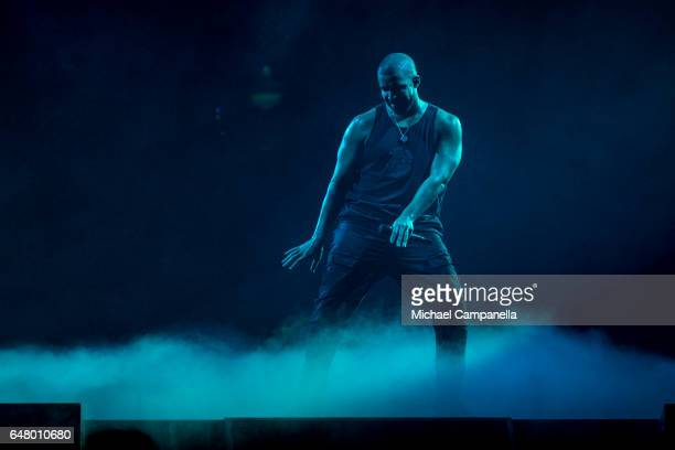 Drake performs at the Ericsson Globe Arena during the Boy Meets World Tour on March 4 2017 in Stockholm Sweden