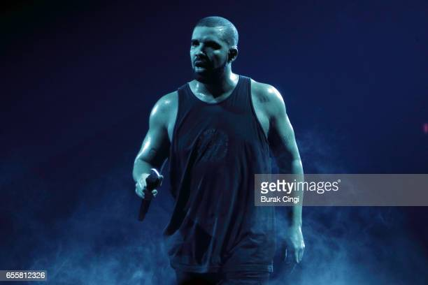 Drake performs at the O2 Arena on March 20 2017 in London United Kingdom