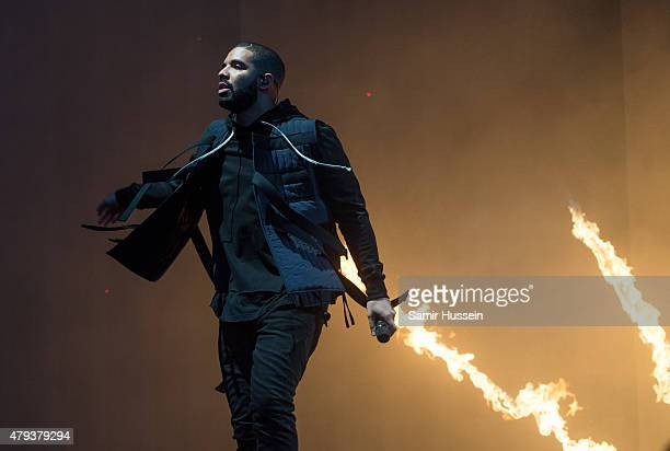 Drake performs on day 1 of the New Look Wireless Festival at Finsbury Park on July 3 2015 in London England