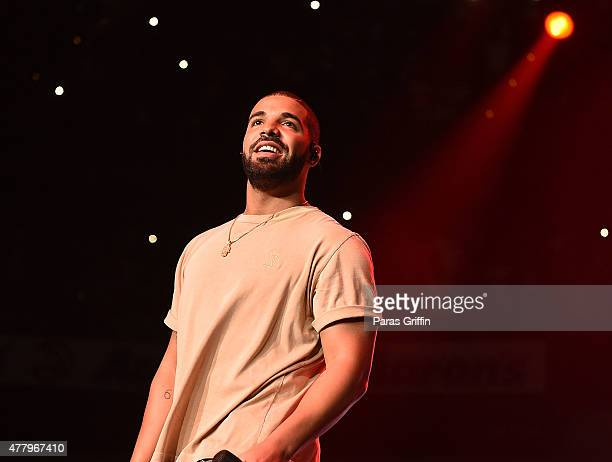 Drake performs onstage at Hot 1079 Birthday Bash Block Show at Phillips Arena on June 20 2015 in Atlanta Georgia