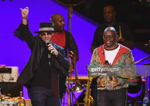 Drake White performs onstage with Philip Bailey of Earth Wind Fire during CMT Crossroads Earth Wind Fire and Friends on June 6 2017 in Nashville...