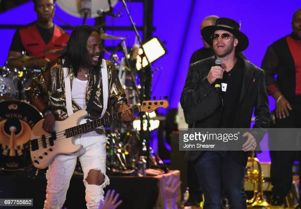Drake White performs onstage with Verdine White of Earth Wind Fire during CMT Crossroads Earth Wind Fire and Friends on June 6 2017 in Nashville...