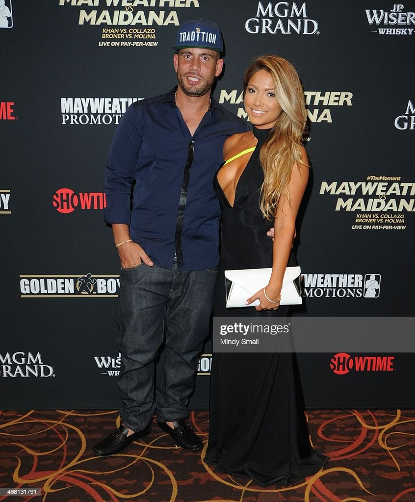 DJ Drama and Jessica Burciaga attend the Mayweather Vs. Maidana Pre-Fight Party Presented By Showtime at MGM Garden Arena on May 3, 2014 in Las Vegas, Nevada.