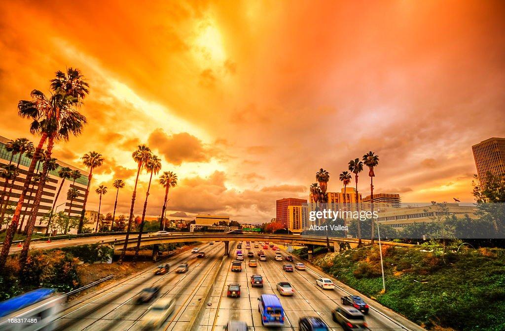 Drama Over Los Angeles Sky