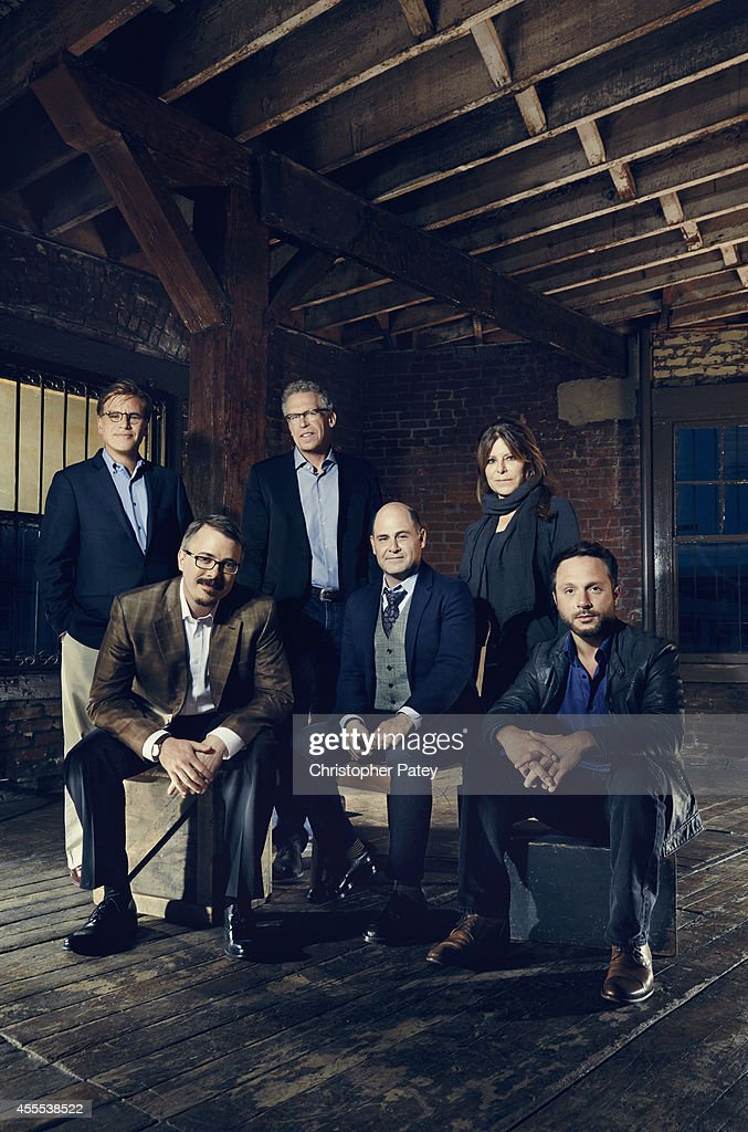 Drama Show Runners Aaron Sorkin, Matthew Weiner, Vince Gilligan, Nic Pizzolatto, Carlton Cuse, Ann Biderman are photographed for The Hollywood Reporter on May 12, 2014 in Los Angeles, California. COVER
