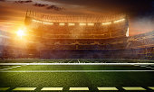 Dramatic american football stadium