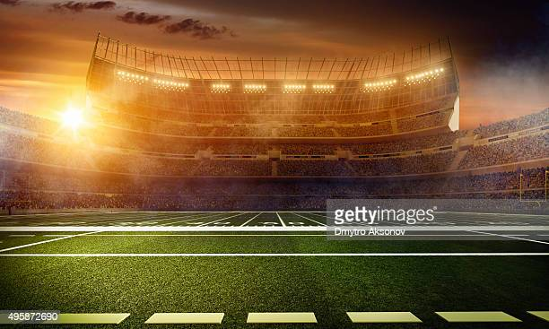 Dramatic american football stadium