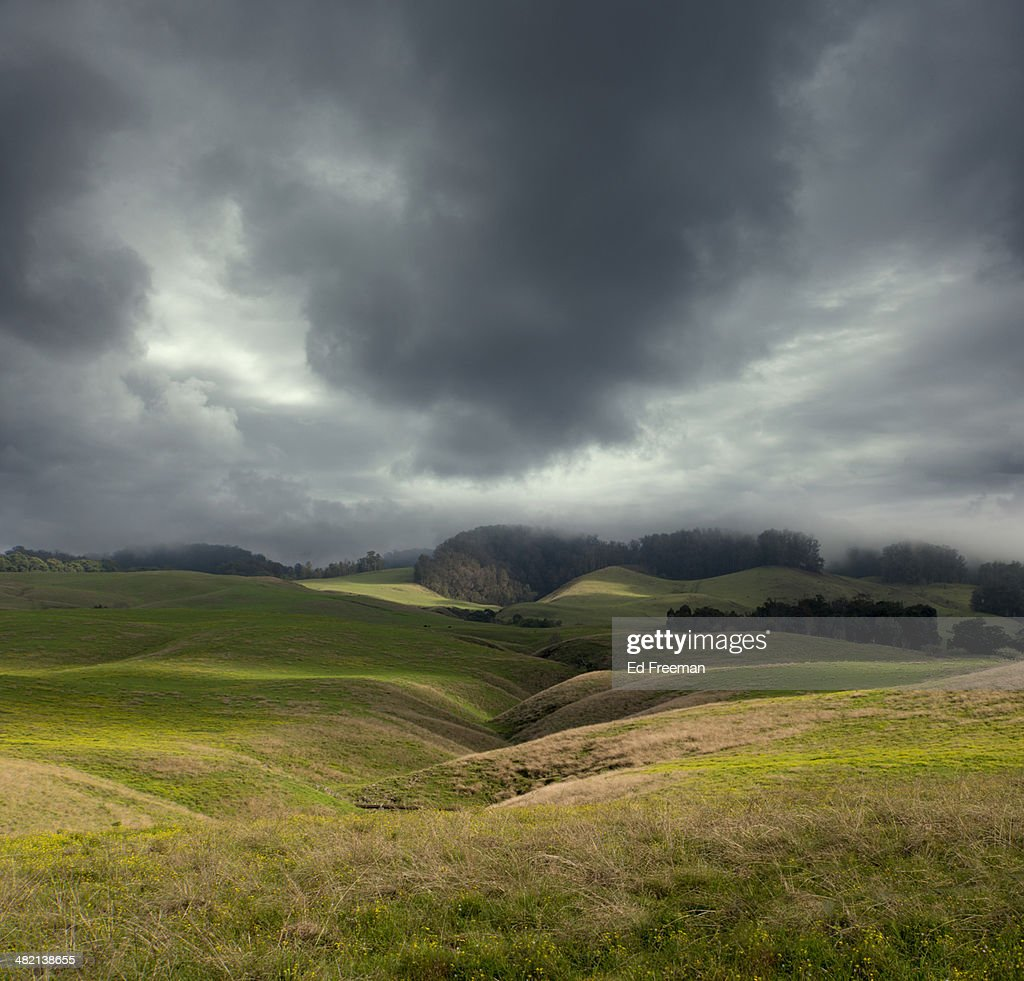 Dramatic Clouds and Rolling Hills