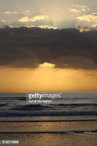 Dramatic Clouds and Sunrise : Stock Photo