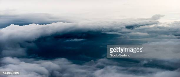 Dramatic clouds from the air