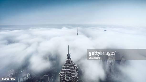 Dramática nubes en Shanghai