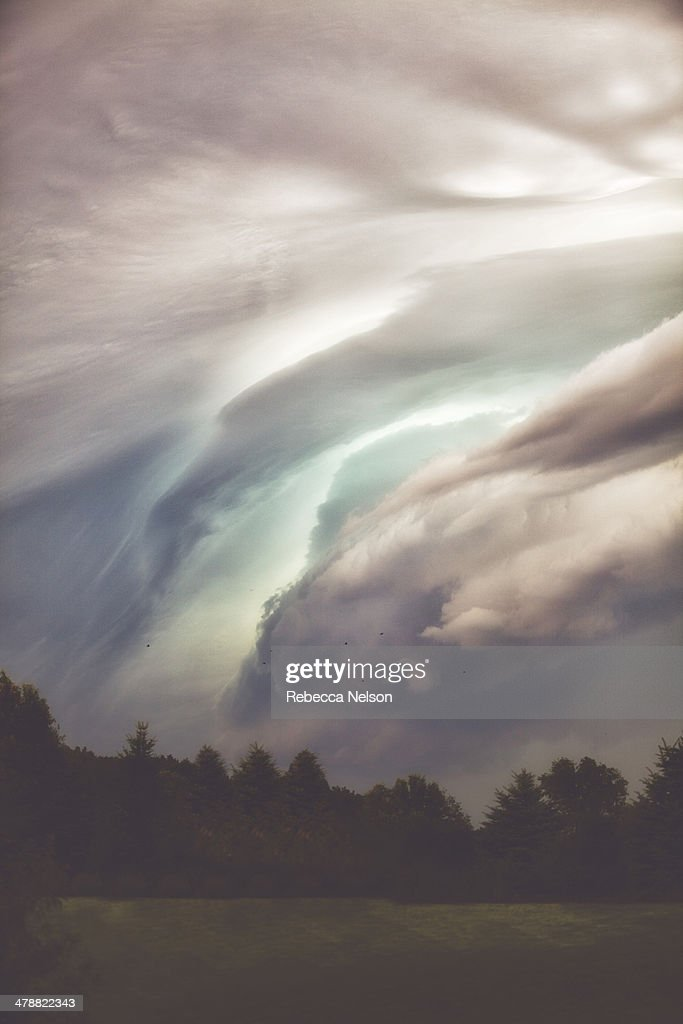 Dramatic cloudy sky before a summer storm