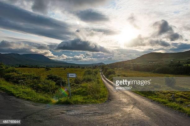 Dramatic countryside Delphi Valley, Mayo, Ireland