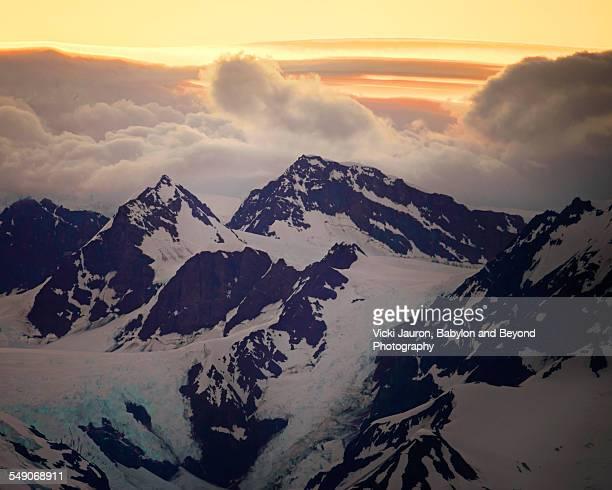 Dramatic Fairweather Peaks in Alaska