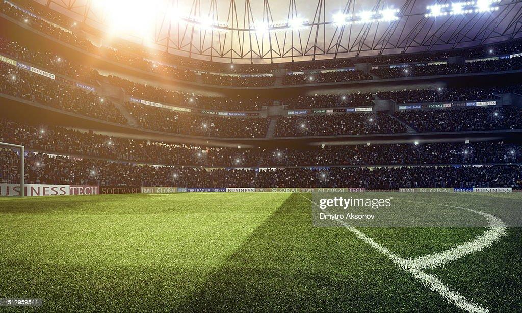 Dramatic football stadium