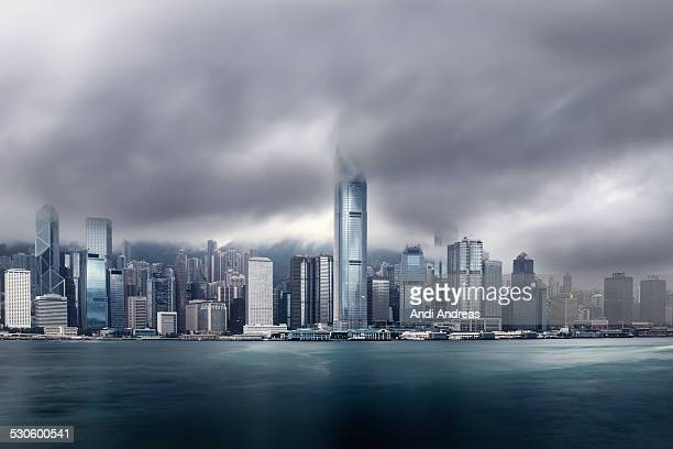 Dramatic Hong Kong Skyline