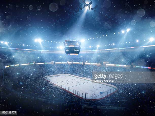 Dramatic ice hockey arena
