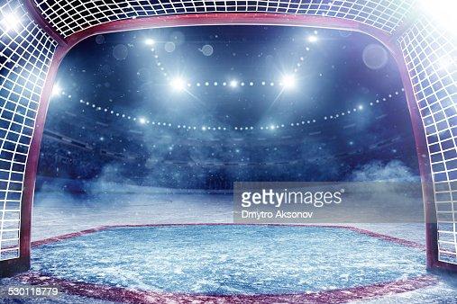 Dramatic ice hockey arena