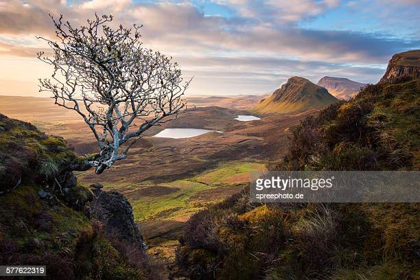 Dramatic landscape of the Quiraing, Isle of Skye