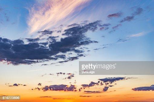Magnifique paysage coucher de soleil : Photo