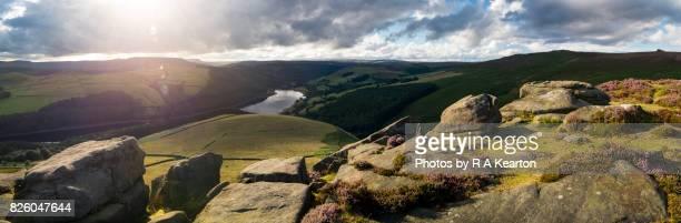 Dramatic light on Whinstone Lee Tor, Peak District, Derbyshire, England
