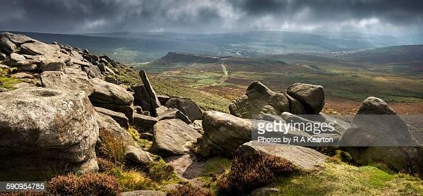 Dramatic Peak District landscape, Higger Tor
