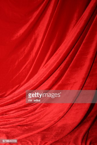 A dramatic red curtain like at a play