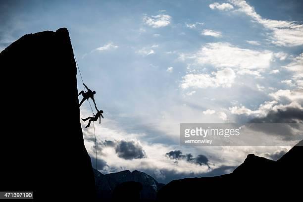 dramatic rock climbing